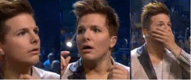 The three stages of Melodifestivalen victory: obliviousness, realisation, and über-shock