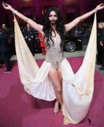 I can't wait to see what outfit Conchita pulls out for the ESC.