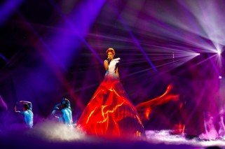 Thousands in the audience, and not one person told Aliona her dress was on fire.